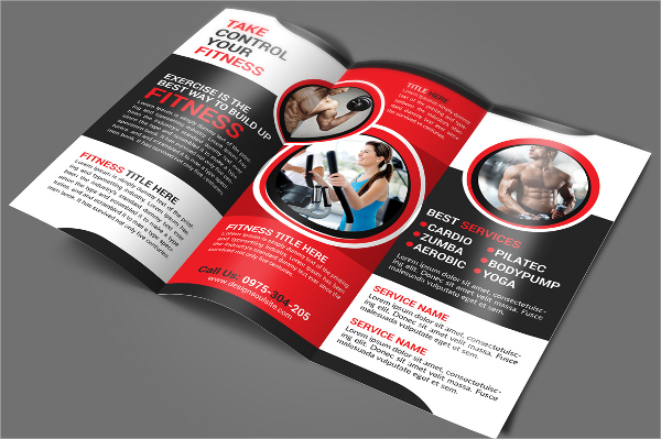 Fitness Tri-Fold Brochure Template1