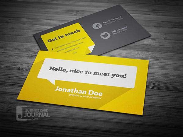 Flat Design Business Card Template