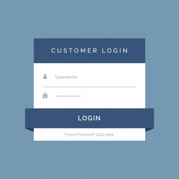 Flat HTML Login Forms Pack