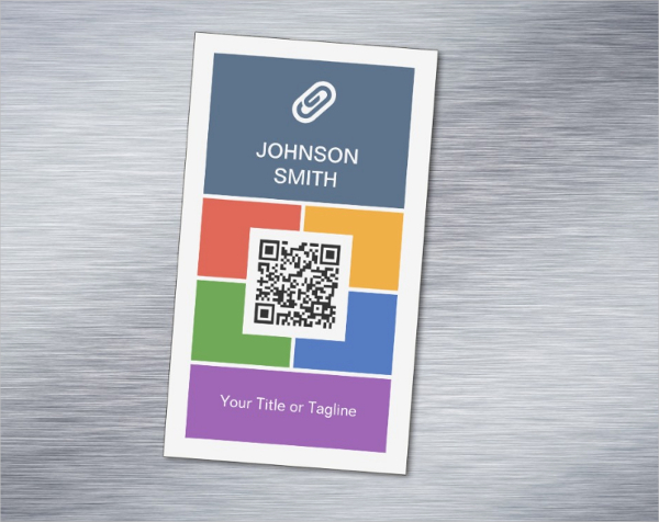 Flat Metro Style Magnetic Business Card