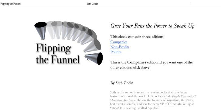Flipping Marketing Funnel