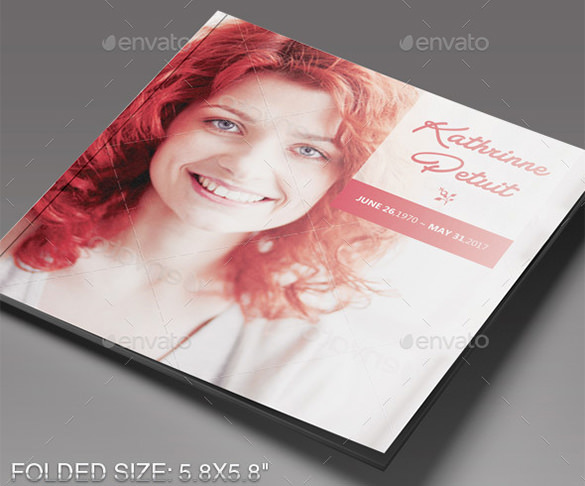 Funeral Program Brochure Templates  Download Free  Premium