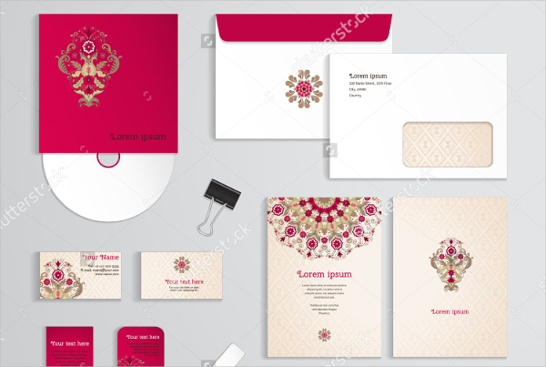 Floral Pattern Magnetic Business Card