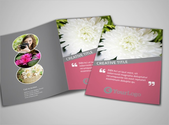 Floral Photography Bi-Fold Brochure Template