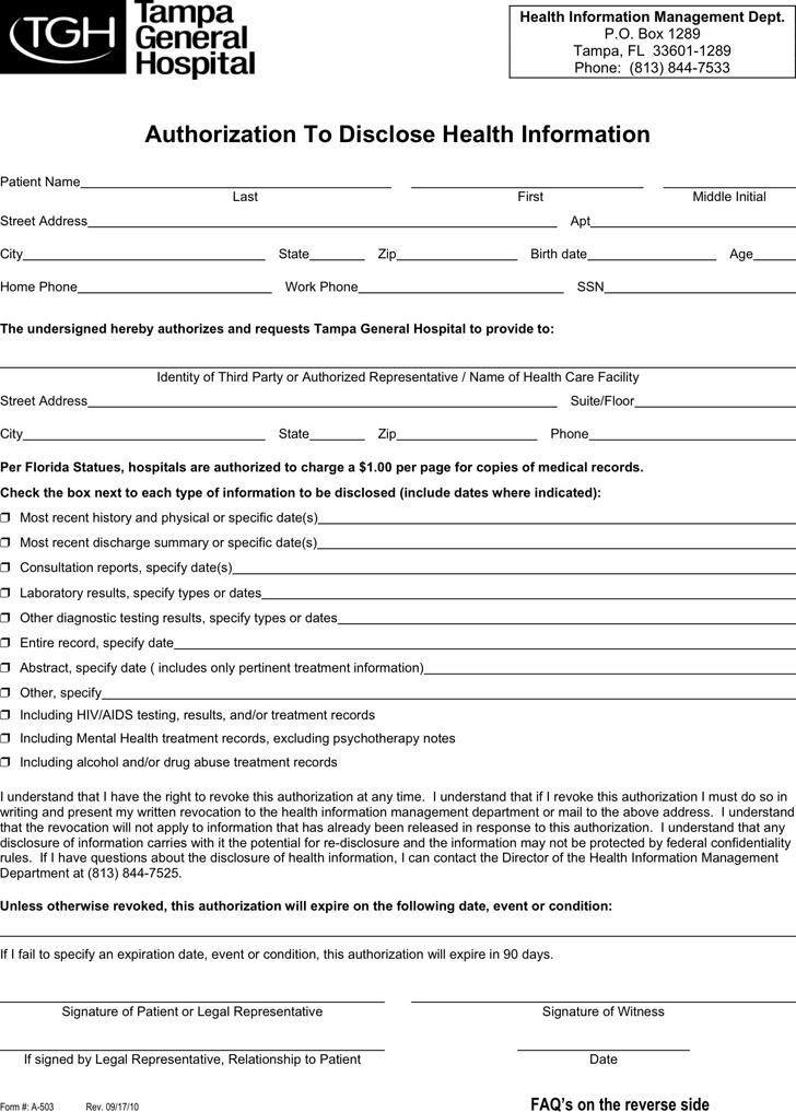 Hospital Release Form. Download Consent & Release Form Summer Camp