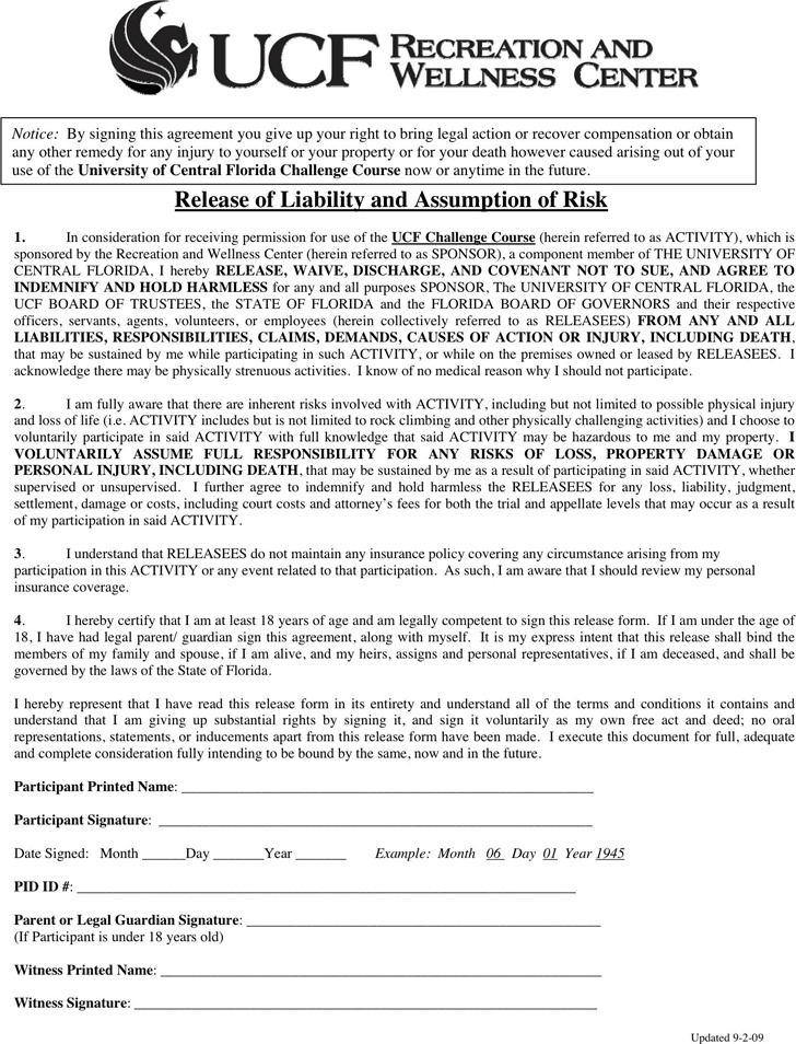 Florida Liability Release Form 1