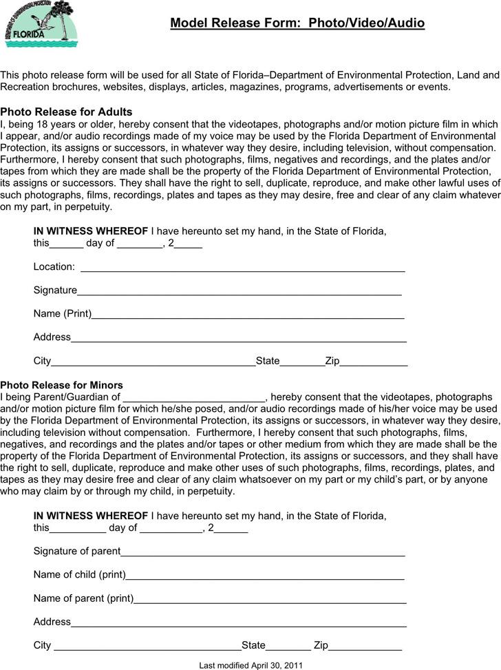 Florida Model Release Form 1