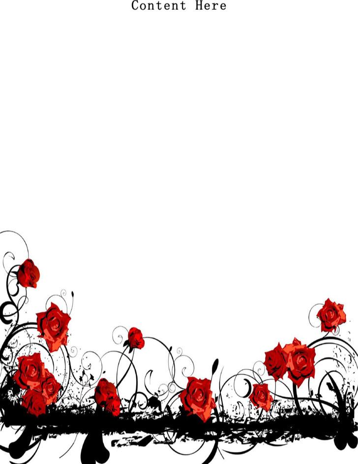 Florist Word Letterhead Template Free Fomat