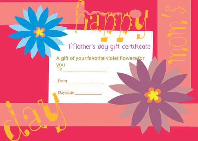 Flower Gift Certificate Template