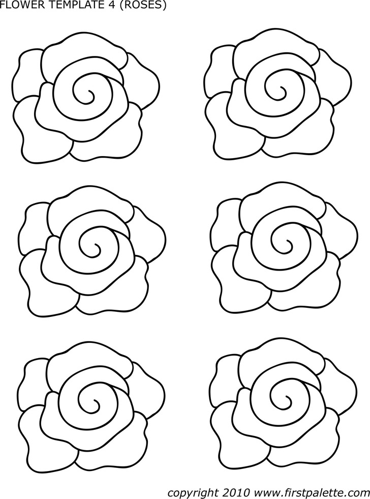 Flower Template of Roses