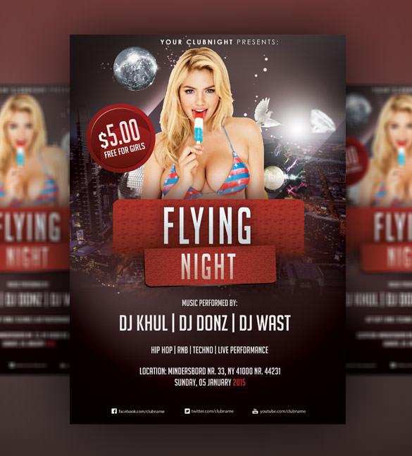 Flying Night - Christmas Flyer PSD Template