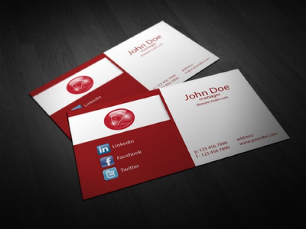 Fold Corporate Business Card Template