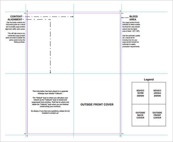 Folding Brochure Printing of Brochure Template