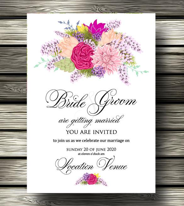Foloral Wedding Program Template Download
