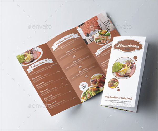Food Menu Tri Fold Brochure Template