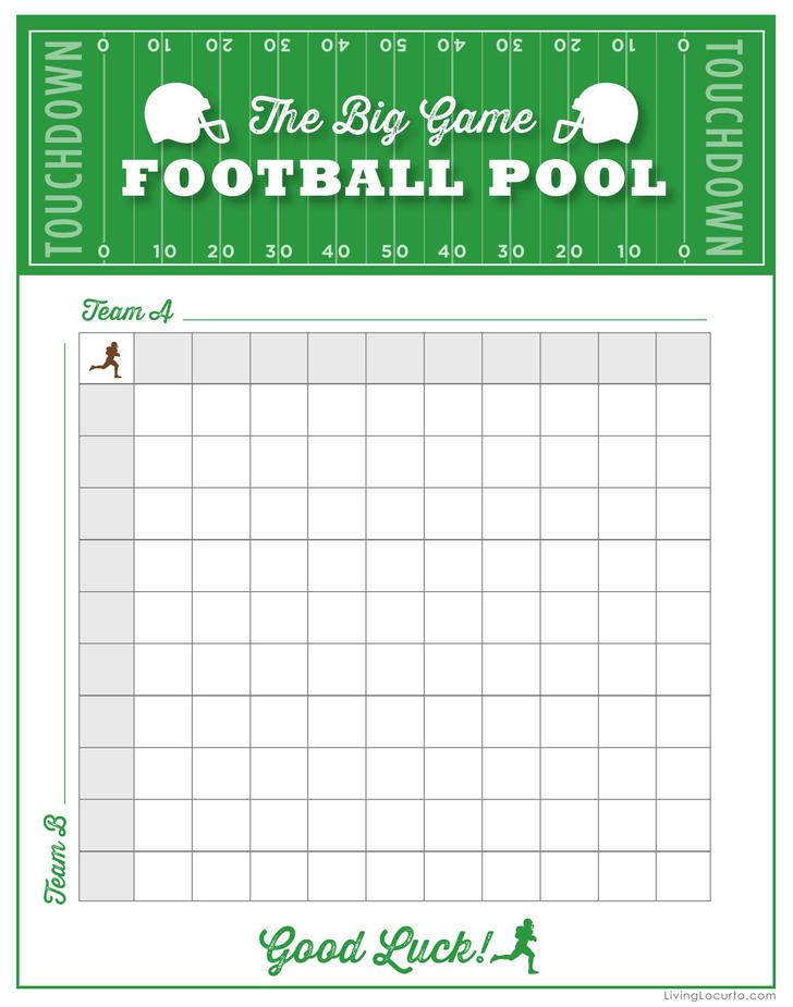 It is a photo of Exhilarating Printable Football Pool Sheets