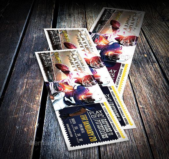 Football Playoff Party Ticket Template