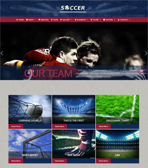 Football Soccer WordPress Website Theme