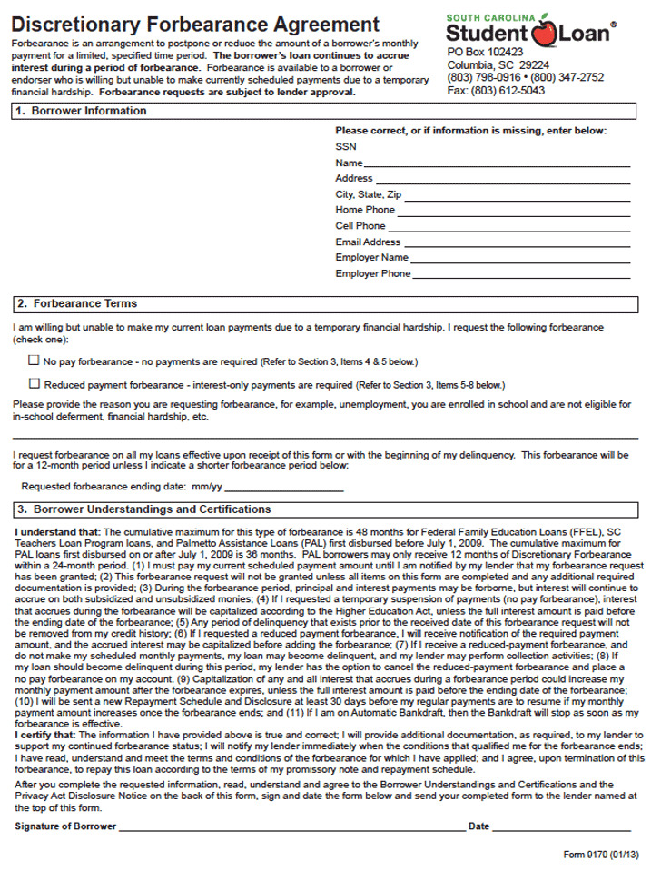 Forbearance Agreement  Download Free  Premium Templates Forms
