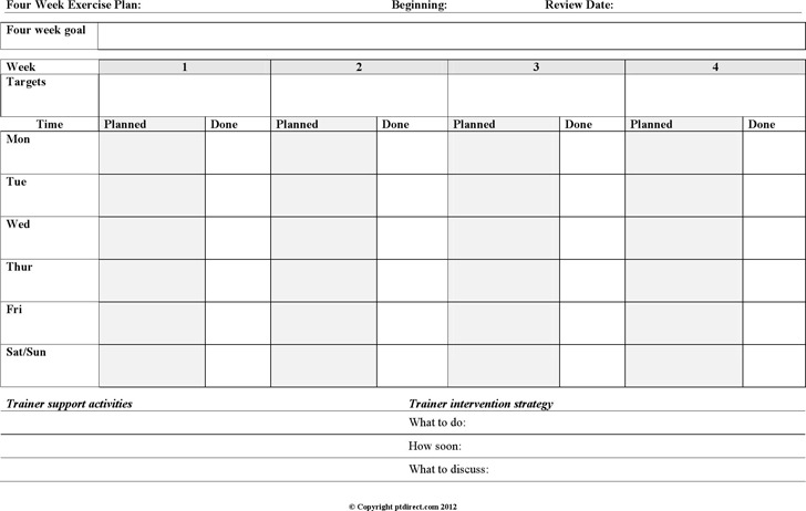 Exercise Chart | Download Free & Premium Templates, Forms ...