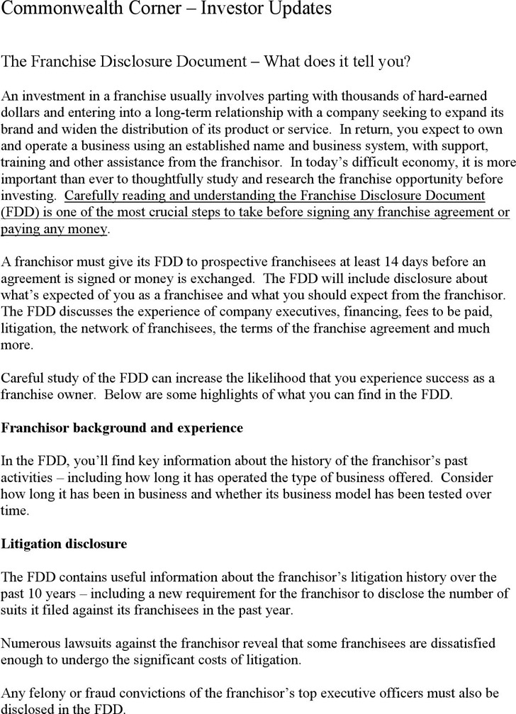 Franchise Disclosure Document 2