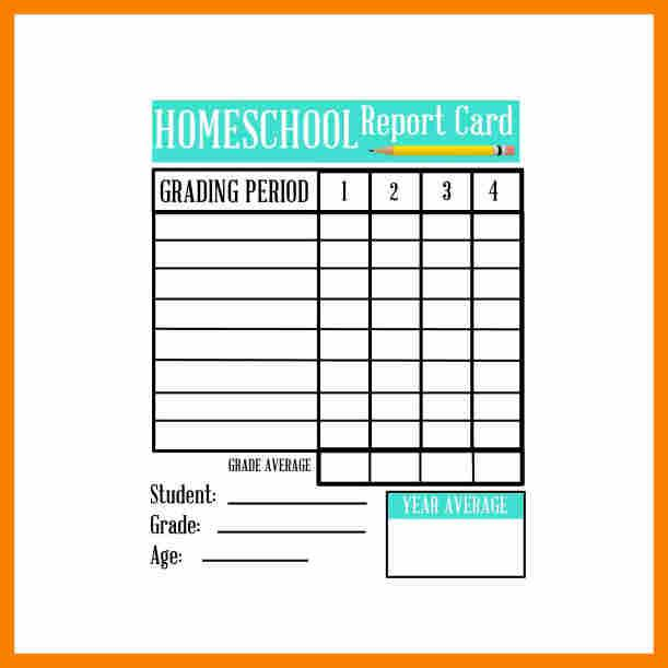report card template free premium templates