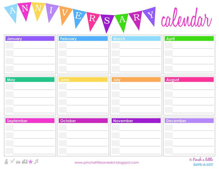 Birthday calendar template download free premium for Family birthday calendar template