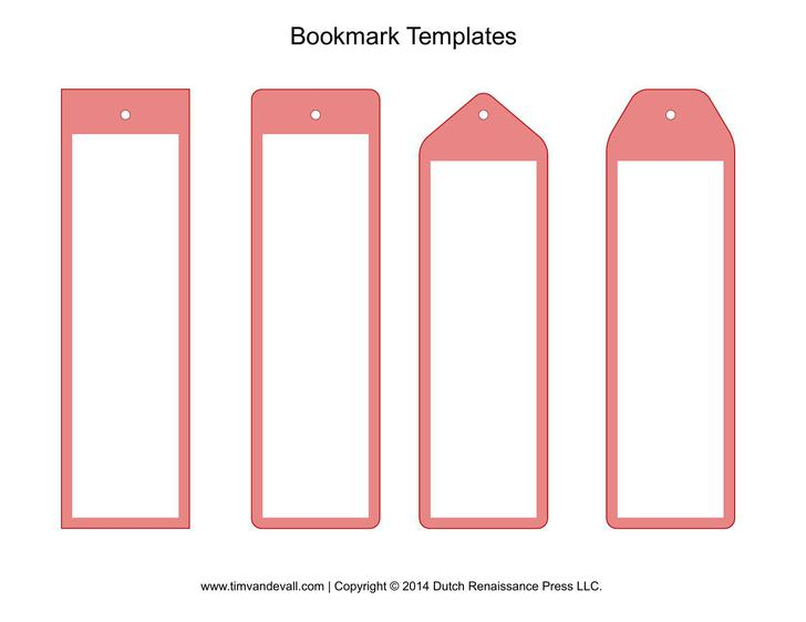 Free Blank Bookmark Template PDF Format Download