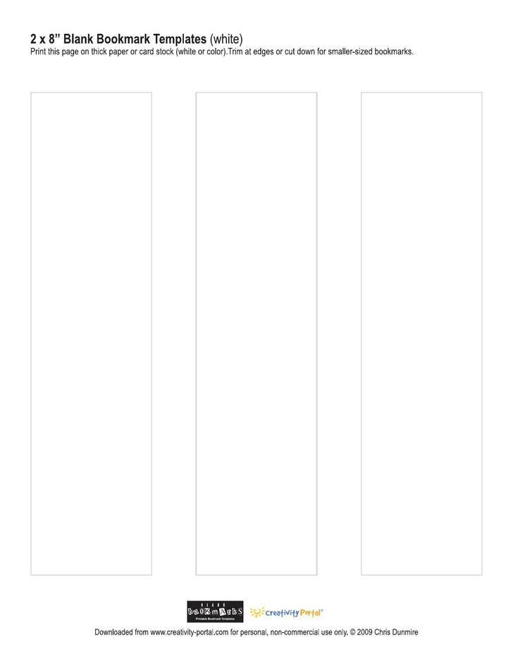 Free Blank Bookmark