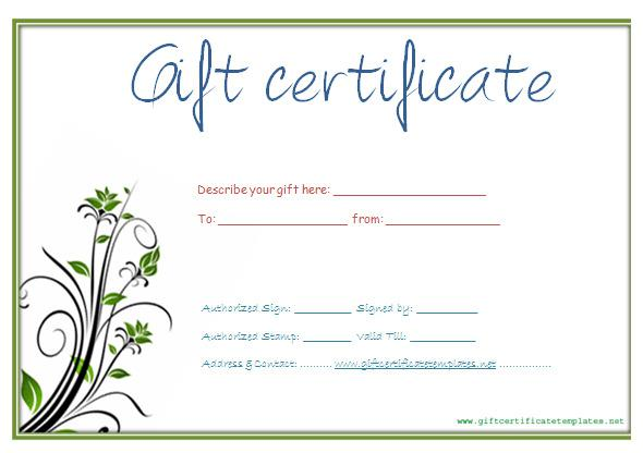 Gift Certificate Template Download Free Premium Templates Forms