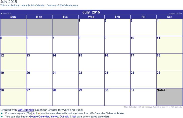 Free Blank Weekly Calendar Template