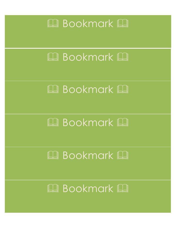 Free Bookmark Template