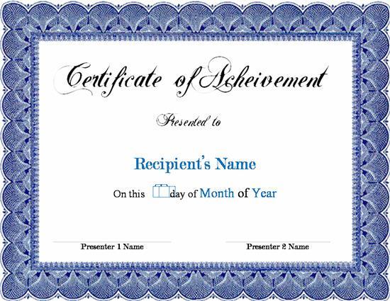Doc800600 Microsoft Word Certificate Template Certificates – Free Certificate Templates for Word