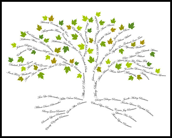 Amazing family tree art templates designs download for Personalised word art template