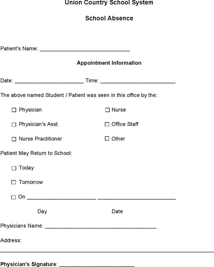 Doctors Note Templates | Download Free & Premium Templates, Forms