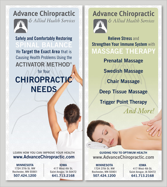 Advance Chiropractic Brochure Template