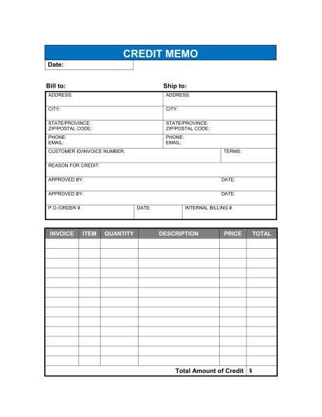 Credit Note Request Template Doc Format