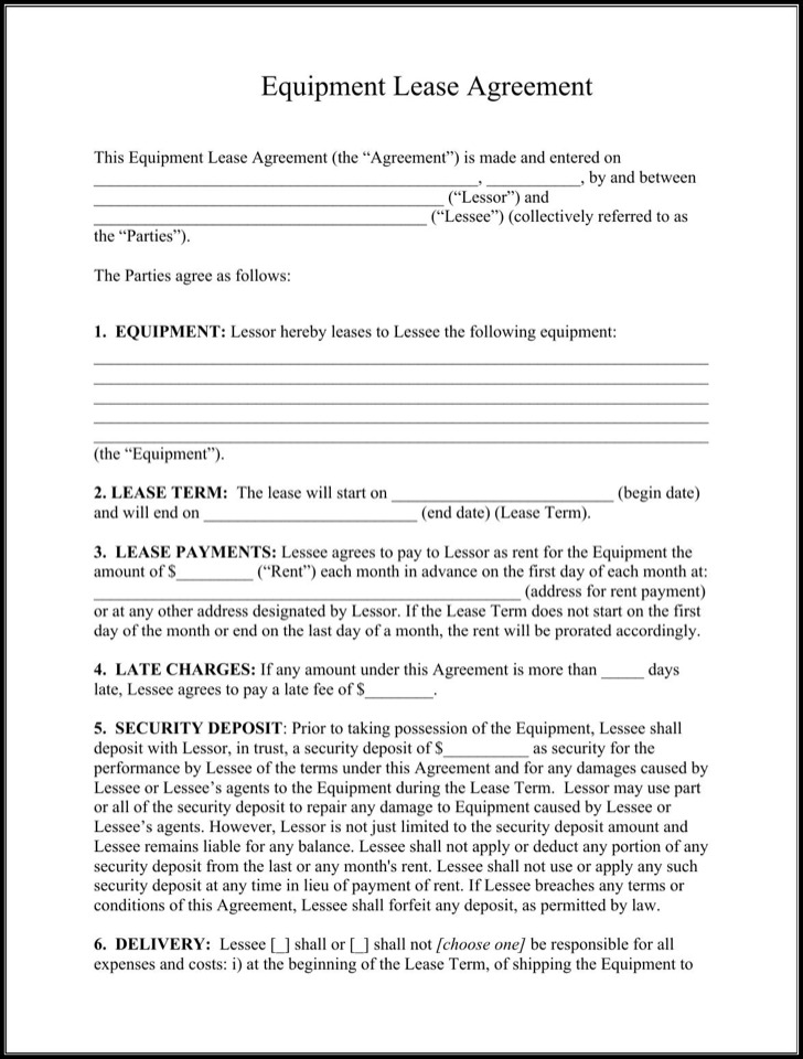 Rental Lease Agreement – Download Lease