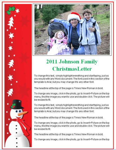 Family Christmas Newsletter Template
