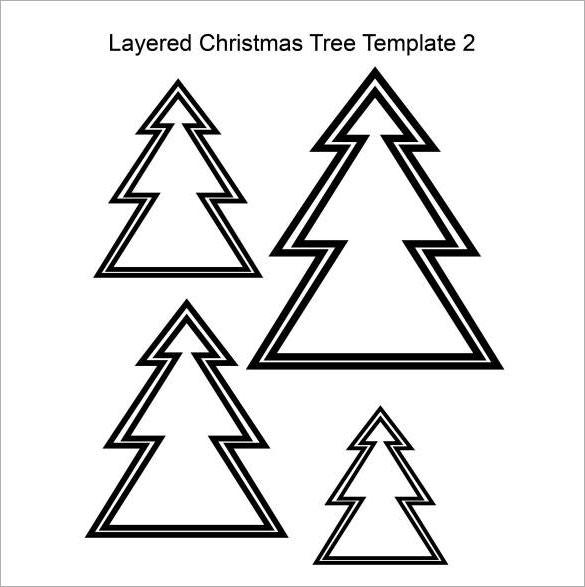 Layered Christmas Tree Template