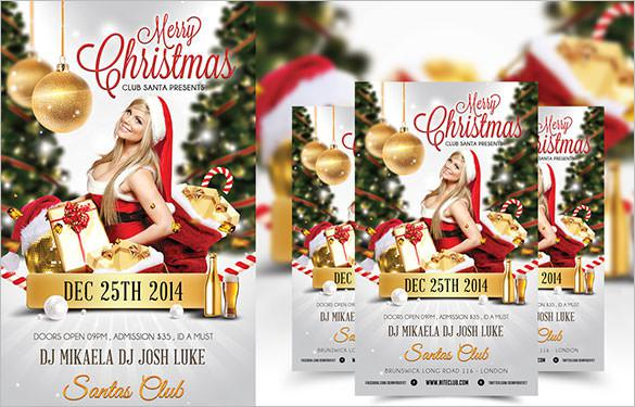 Merry Christmas Nightclub Psd Flyer Template