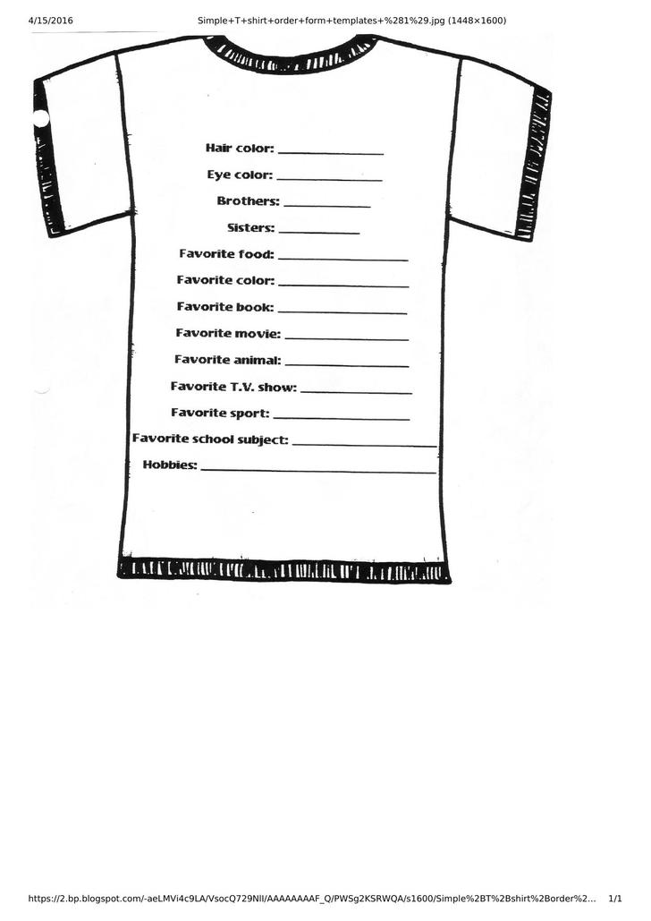 t shirt order form template download free premium
