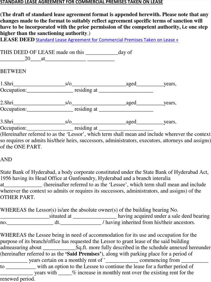 Commercial Rental Agreement  Download Free  Premium Templates