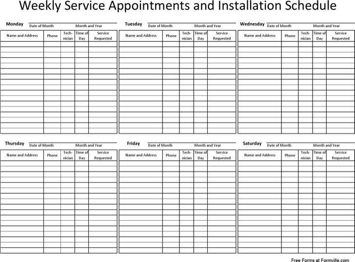 appointment schedule template download free premium templates forms samples for jpeg png. Black Bedroom Furniture Sets. Home Design Ideas