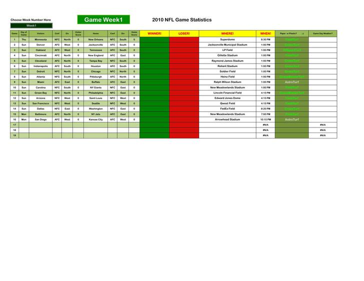 Weekly Football Pool Template Excel  BesikEightyCo