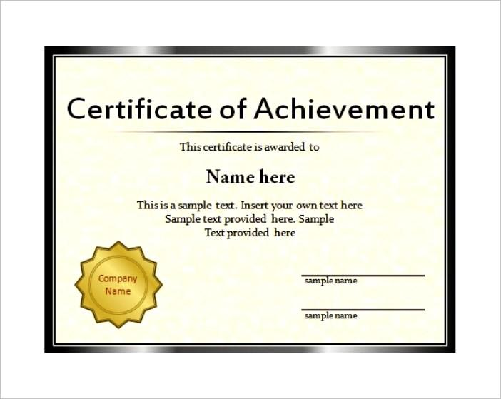Free Downloadable Certificate Template