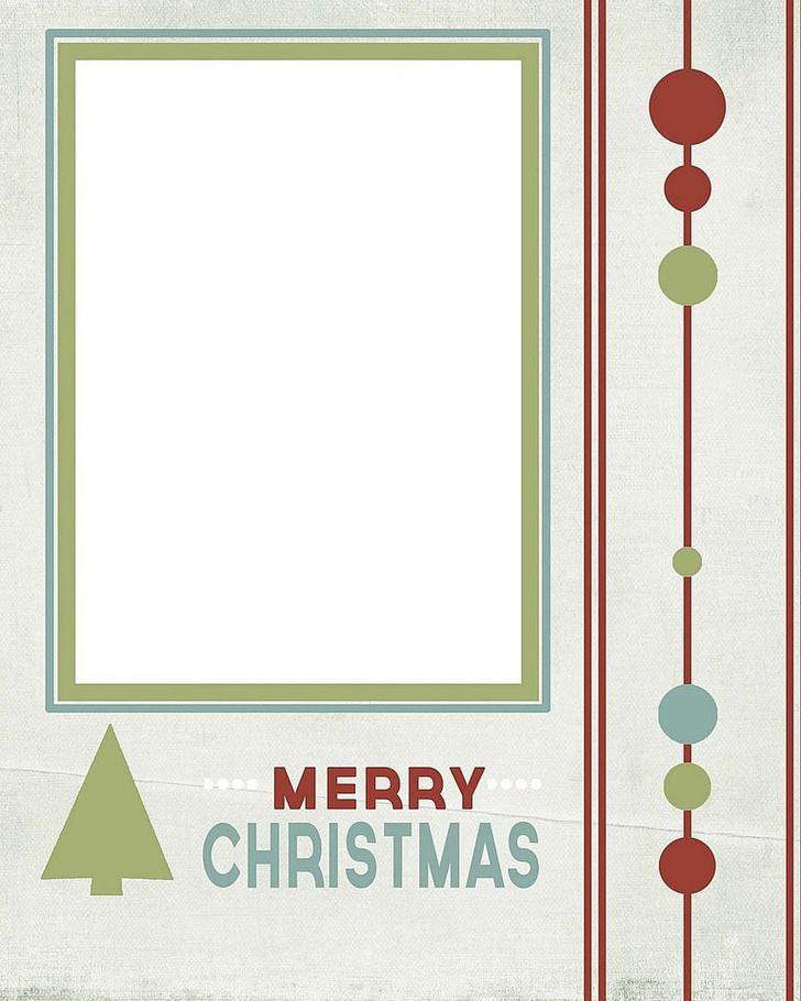 Free Editable Snowy Christmas Card Template