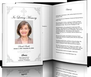 Free Funeral Obituary Program Template For MAC  Free Obituary Program Template
