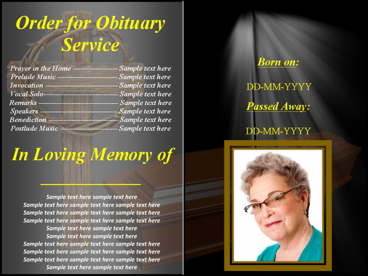 Free Funeral Obituary Program Template