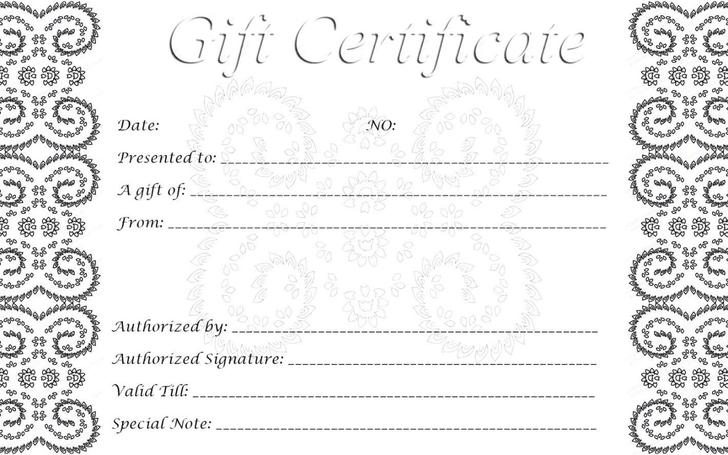 Doc750320 Free Printable Blank Gift Certificates 17 Best – Certificates Free Download Free Printable